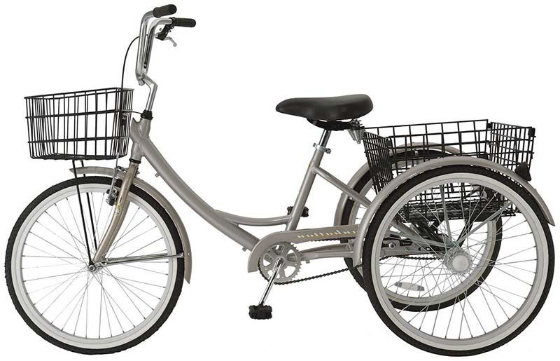Трехколесный велосипед для пожилых