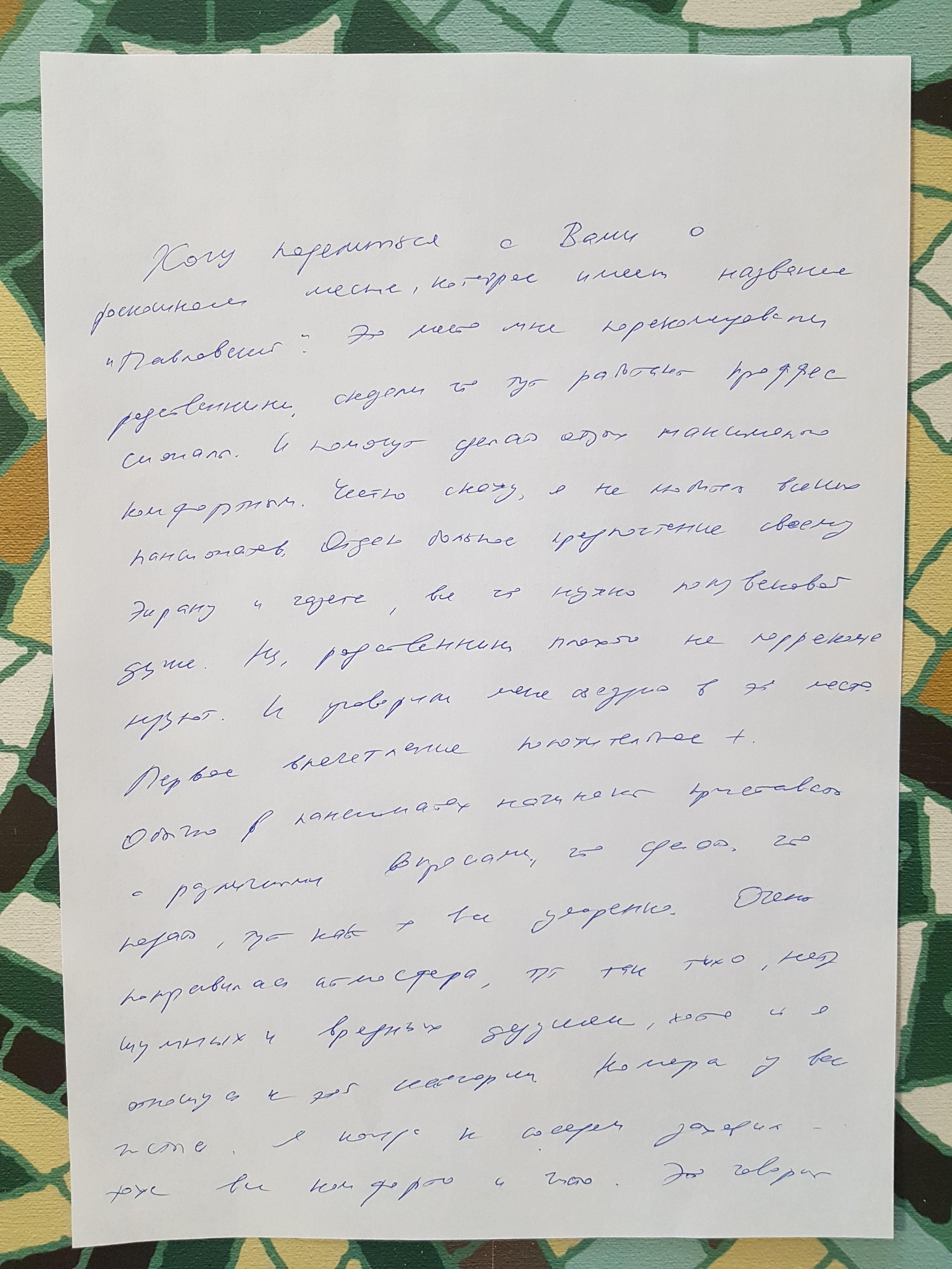отзыв Степанычева о пансионате