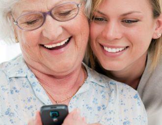 старики и телефон